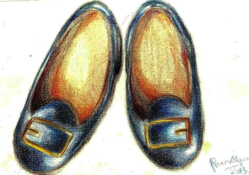 Deep navy blue shoe